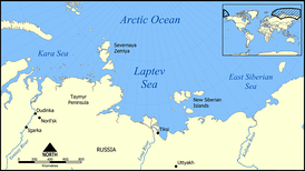 Map of the Russian Arctic