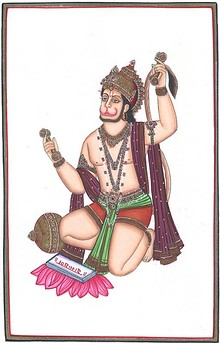 Lord hanuman singing bhajans AS.jpg