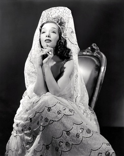 Lupe Vélez, Mexican silent film actress. La Zanduga was the first Spanish-speaking movie Lupe Velez started in.