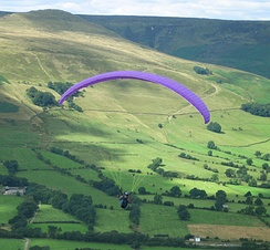 Paragliding from Mam Tor