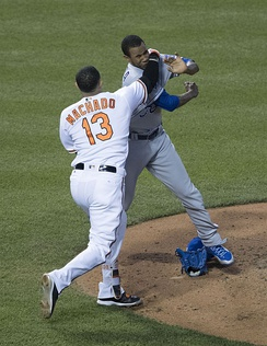 A 2016 fight between Manny Machado and Yordano Ventura concerned the unwritten rules of baseball.[1]