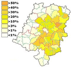 Votes for the German Minority in the 2007 elections in the Opole Vovoidship