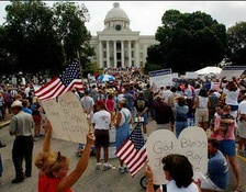 Rally before the Alabama State Capitol, August 16, 2003