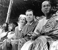 Vice President and Pat Nixon during a visit to Ghana, 1957