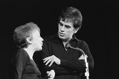 Piaf with her second husband Théo Sarapo in 1962