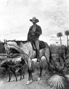 A cracker cowboy by Frederic Remington