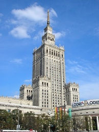The Palace of Culture and Science in Warsaw, initially called the Stalin's Palace, was a controversial gift from Soviet leader Joseph Stalin