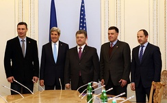 U.S. Secretary of State John Kerry meets with Ukrainian members of parliament, 4 March 2014