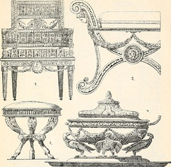 Furniture and objects in the Directory style