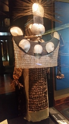 Tahitian Parae, or Chief Mourner costume, on display in the Bishop Museum