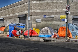 Skid row tents