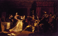 The Murder of David Rizzio, painted in 1833 by William Allan.