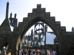 Entrance to Hogsmeade at The Wizarding World of Harry Potter