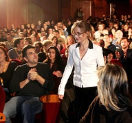 Isabelle Huppert at the Olympion theater (2004)