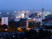Aerial view of Rostov at night