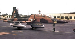 425th Tactical Fighter Training Squadron Northrop F-5B-50-NO Freedom Fighter, AF Ser. No. 72-0439, Williams AFB, Arizona, 1973.
