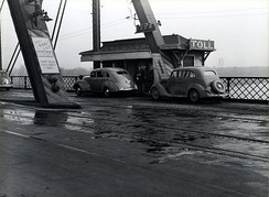 Ak-Sar-Ben Bridge toll booth in 1938
