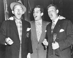 With Perry Como and Arthur Godfrey in 1950