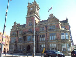 Facade of Blackpool Town Hall