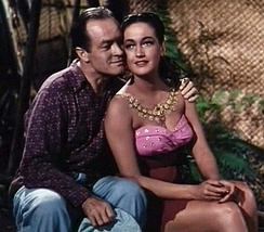 With Dorothy Lamour in Road to Bali
