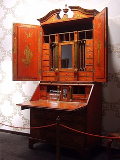 A Chinese Chippendale desk