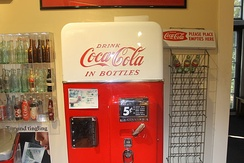 Early Coca-Cola vending machine at Biedenharn Museum and Gardens in Monroe, Louisiana