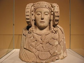 The Lady of Elx, 4th century BC, polychrome stone bust from L'Alcúdia, Elche, Spain