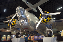 B-18A Bolo 37-0469 from the 38th Reconnaissance Squadron on display at the National Museum of the U.S. Air Force.