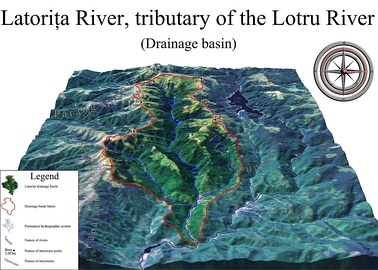 Animation of Latorița River drainage basin, Romania