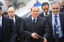 Berlusconi at the EPP summit in March 2012