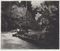 Night in the Park, etching, 1921