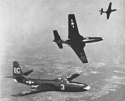 Three FH-1 Phantoms of VMF-122 in 1949