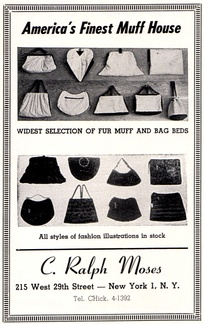 Fur muff manufacturer's 1949 advertisement