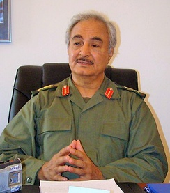 Field Marshal Khalifa Haftar, the head of the Libyan National Army, one of the main factions in the 2014 civil war.