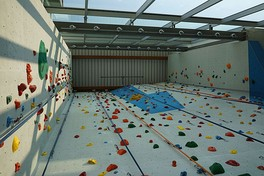 Indoor climbing at the Student Union Building.