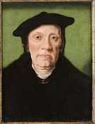 Cornelis Aerentsz van der Dussen by Jan van Scorel Panel, Weiss Gallery, London