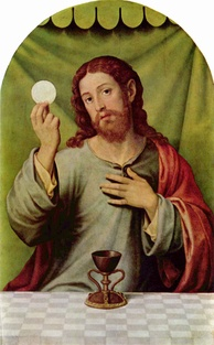 Christ with the Eucharist by Vicente Juan Masip, 16th century.