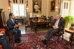 Castro meets with U.S. Senate Majority Leader Harry Reid on July 7, 2014