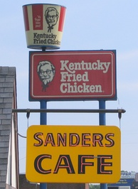 This sign displays the KFC logo as used between 1978 and 1991