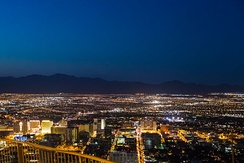A view of the Las Vegas Valley looking north from the Stratosphere Tower