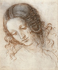 Leonardo da Vinci: Head of Leda, in the Royal Collection