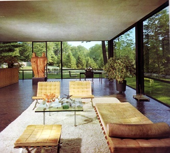 Interior of the Glass House (1949)
