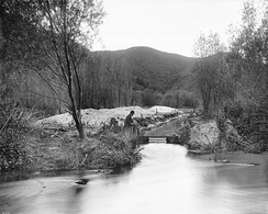 Los Angeles River at Griffith Park, c. 1898–1910