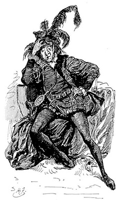 Mr Wopsle as Hamlet, by Harry Furniss