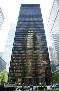 The Seagram Building: Home of Wells Fargo Securities' New York offices and trading floors
