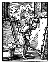 A German parchmenter during the 16th century.