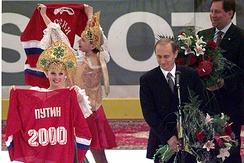 Vladimir Putin at the opening ceremony