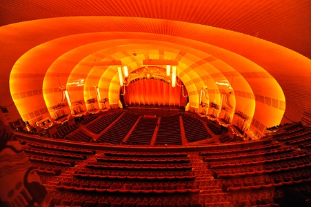 Auditorium and stage of Radio City Music Hall, New York City (1932)