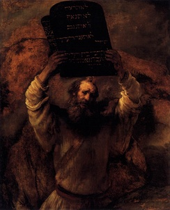 Moses Breaking the Tablets of the Law by Rembrandt