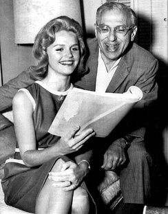 Rehearsing with Lee Remick in 1962